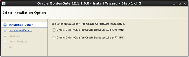 Installing Oracle Golden Gate 12c (12 1 2) along side Oracle