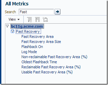 Fast Recovery Area Monitoring – Where are the metrics! #em12c |