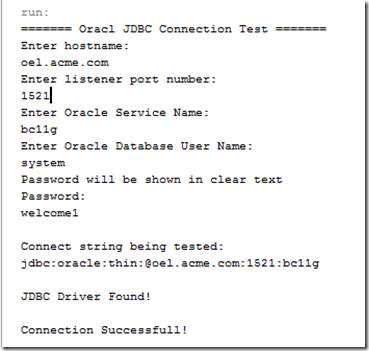 Oracle JDBC Connection Tester |