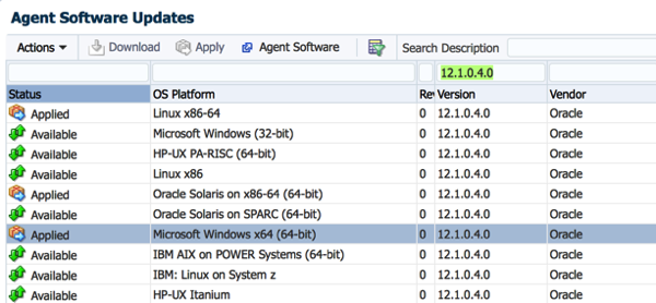 Adding additional agents to OEM12c |