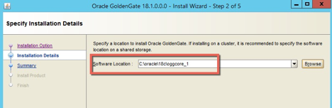 Installing Oracle GoldenGate 18c Microservices on Windows